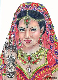 from color me beautiful women of the world coloring book woman from india - Color Me Beautiful Book