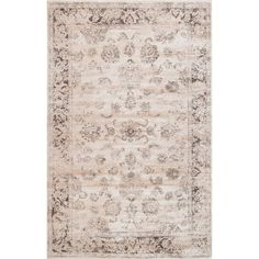 Large Vintage Persian Neutral Area Rug || Dimensions: 8 x 10.