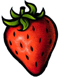 An illustration of a strawberry