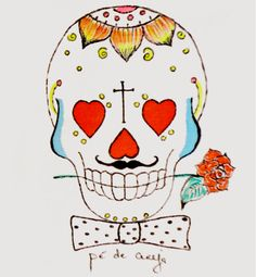 Mexican Skull Man by Pé de Cereja Valentine's Day https://www.facebook.com/pedecereja2014