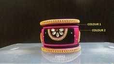 Black and Pink Designer Bangle Set