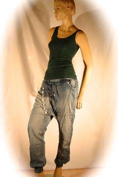 Eyecatcher !!! Jeans Pluderhose, Haremshose von wait a minute auf DaWanda.com