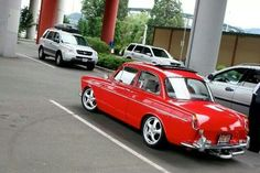 red notchback VW