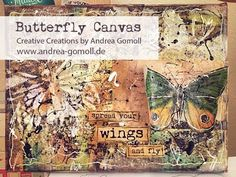 ▶ 【Mixed Media Canvas】 Spread your Wings and fly - YouTube