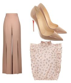 """""""Untitled #11"""" by kayryan ❤ liked on Polyvore featuring Christian Louboutin and Cushnie Et Ochs"""