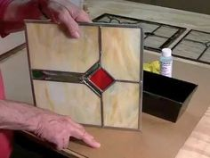 Here are all the steps to take to successfully put a durable jet black patina over the zinc and lead in a stained glass project. Stays Black™ patina for zinc...