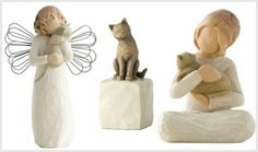Willow Tree Cat Figurines Touch the Heart