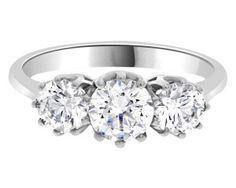 Three stone diamond ring tr1013-1