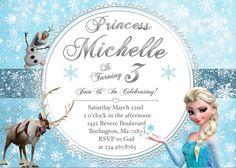 Disney's Frozen Birthday Invitation  PRINTABLE by CustomPartyDecor, $9.99