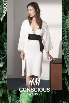 Dress in satin with a slight sheen and heavy drape. | H&M Conscious Exclusive