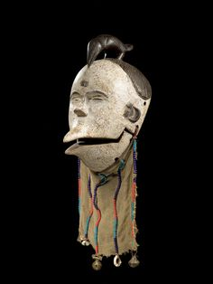 Ogoni FACE MASK Nigeria. H 25 cm. Provenance: Swiss private collection.
