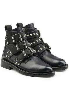 ZADIG & VOLTAIRE - Laureen Embellished Leather Ankle Boots | STYLEBOP