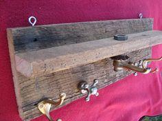 Golden faucet coat rack and shelf $62