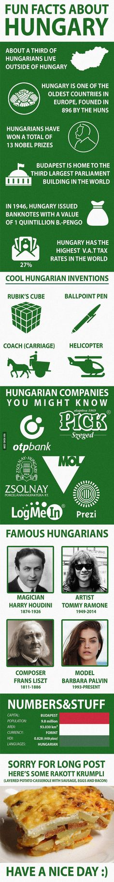 Fun Facts about Hungary - All the Interesting Information You're Wondering Here Montenegro, Countries Around The World, Around The Worlds, Weird Facts, Fun Facts, World Geography, Human Geography, Little Paris, Interesting Information