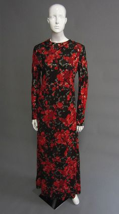 1970s Floral Print Gown