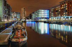 Leeds Docks At Night Leeds Apartment, Leeds Dock, Leeds City, Pop Up Bar, Trip Advisor, Times Square, Fair Grounds, Stock Photos, London