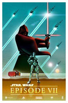 Star Wars: Episode VII: The Force Awakens - movie poster - Kaz Oomori