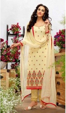 Georgette Fabric Evening Wear Straight Cut Dresses in Cream Color | FH523579302 #pakistani , #evening , #dress , #heenastyle , #party , #wear , #anarkali , #salwar , #kameez , #dupatta , #churidar , #suit , #fashion , #online , #shopping , #casual , #designer , @heenastyle , #store, #shop , #boutique , #straight , #georgette , #fabric