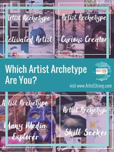 uncover your artist archetype to uncover free artist resources tailored to YOUR art journey Jungian Archetypes, Business Articles, Business Tips, Artist Life, Business Planning, Art Education, Art Blog, Sell Your Art, Online Art