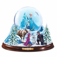 """Disney """"Frozen"""" Musical Snowglobe with Lights And Swirling Snow by The Bradford Exchange Frozen Disney, Disney Pixar, Walt Disney, Frozen Frozen, Disney Mugs, The Snow, Water Globes, Snow Globes, Frozen Snow Globe"""