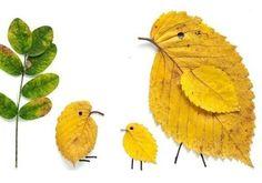 süße Bastelidee Kinder Herbst Naturmaterialien