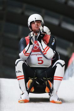 DAY Luge Men's Doubles - Peter Penz and Georg Fischler of Austria 2018 Winter Olympics, Luge, Austria, Motorcycle Jacket, Athlete, Jackets, Fashion, Down Jackets, Moda