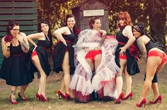 Bridesmaids Flashing Ass Is the Hot New Wedding Photo Trend - And this is a heckofa good looking bunch of bridesmaids.