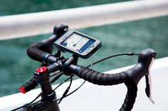 Handlebar mount makes the iPhone a cyclist's best friend Fitness Activities, Phone Mount, Cool Tech, Travel Tours, Tech News, Tech Accessories, Touring, Gadget, Cycling