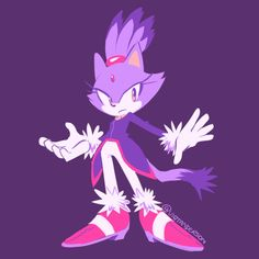 Aaron Hammerstrom's (Sonic IDW artist) artwork of Blaze the Cat! Blaze The Cat, Sonic The Hedgehog, Shadow Sonic, Sonic Franchise, Cat Icon, Sonic Fan Art, Blue Streaks, Arte Disney, Sonic Boom