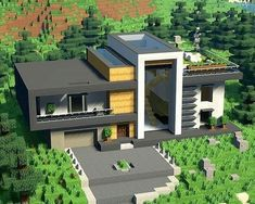 Minecraft House Plans, Easy Minecraft Houses, Minecraft House Tutorials, Minecraft Houses Blueprints, Minecraft Room, Minecraft House Designs, Amazing Minecraft, Minecraft Crafts, Minecraft Buildings