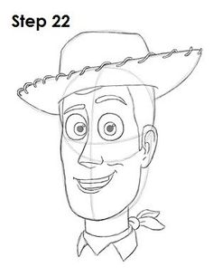 Mar 2016 - Learn how to draw Woody from Disney•Pixar's Toy Story with this step-by-step tutorial and video. A new cartoon drawing tutorial is uploaded every week, so stay tooned! Disney Character Drawings, Disney Drawings Sketches, Doodle Drawings, Art Drawings Sketches, Cute Drawings, Pencil Drawings, Character Art, Drawing Disney, Disney Cartoon Drawings