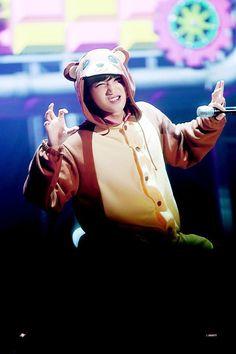 Kai is a little bear Exo Kai, Chanyeol, Kyungsoo, Kim Jong Dae, Exo Luxion, Kim Minseok, Hottest Guy Ever, Exo Members, Exo Ot12