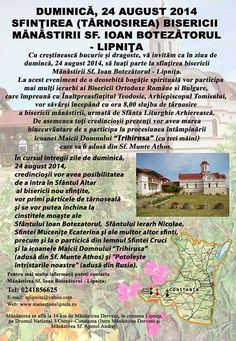 METANOIA - ALTAR ORTODOX: EVENIMENT 24 AUGUST 2014- LIPNIȚA