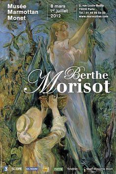 Berthe Morisot - Musée-Marmottan , rue Louis Boilly - Paris 16 Art Exhibition Posters, Art Posters, Berthe Morisot, Edouard Manet, Modern Art Paintings, Expositions, Art Model, Oeuvre D'art, Lovers Art