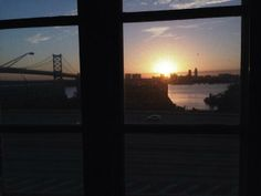 @pazzox- The view outside our window in Philly is breathtaking! A gorgeous sunrise this morning.