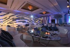 Our Muse - Modern Blue Wedding - Be inspired by Haya & Nasser's modern blue wedding - wedding, blue, modern, futuristic, eggshell, qatar, doha, st. regis, decor