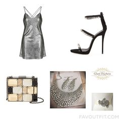 Style Selection Including Topshop Dress High Heel Shoes Sondra Roberts Clutch And Bridal Jewellery From August 2016 #outfit #look
