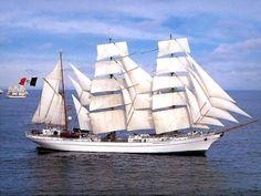 "Three-masted barque ""Cuauhtemoc"", Mexico"