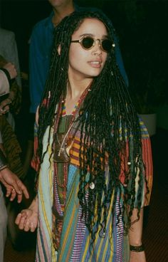 """9 Mother-Daughter Duos Who Prove That """"It Girl"""" Beauty Runs in the Family Lisa Bonet Cornrows, Hippie Style, Pretty People, Beautiful People, Beautiful Women, Zoe Kravitz Style, Curly Hair Styles, Natural Hair Styles, Locs Styles"""