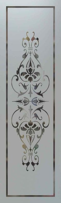 Bordeaux Pantry Door Etched Glass - Glass pantry doors that you design! Choose from 8 woods, hundreds of designs, borders and font styles any decor style! Window Glass Design, Frosted Glass Design, Door Design, Etched Glass Door, Glass Etching, Mosaic Glass, Stained Glass, Glass Art, Glass Pantry Door
