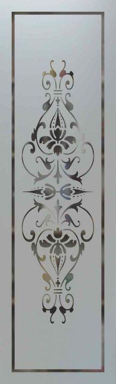 """San Soucie -- etched glass doors """"bourdeaux"""" style -- $450"""