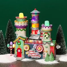 "Department 56 - North Pole Series - ""Yummy Gummy Gumdrop Factory"""