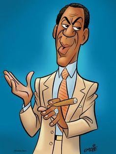 [ Bill Cosby ]- artist: Pete Emslie - website: http://cartooncave.blogspot.com/