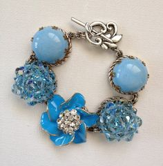 Upcycled brooch and vintage earring by ChicMaddiesBoutique on Etsy, $45.00