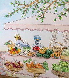 Instagram media mai.y.21 - 昨日 postした『憧れのお店屋さん』の右アップです! @momosuki777 さん、@choco_aさん、@icekureemさん、@antique_luvさん  リクエストをありがとうございました(*´︶`*)♡ #コロリアージュ #塗り絵 #おとなのぬりえ #おとなの塗り絵 #大人の塗り絵 #色鉛筆 #ホルベイン #ホルベイン色鉛筆 #coloriage #adultcoloring #adultcolouringbook #holbein #coloringbooks #coloringbook #油性色鉛筆 #憧れのお店屋さん #井田千秋 #ステッドラー #staedtlerpens #staedtler
