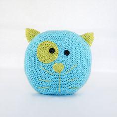 Crochet Cushion Cat