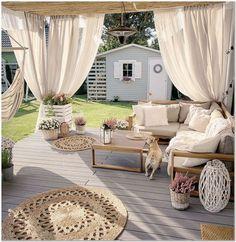 Exclusive, modern and versatile garden set made of beautiful wood with FSC-seal - future siegburg home - garten dekore Outdoor Rooms, Outdoor Gardens, Outdoor Living, Outdoor Decor, Outdoor Lounge, Outdoor Cabana, Outdoor Life, Pergola Design, Backyard Patio Designs
