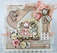 Crafty Little Fairies Magnolia, Pretty Cards, Cute Cards, Card Tags, I Card, Scrapbook Cards, Scrapbooking, Valentine Love Cards, Heart Cards