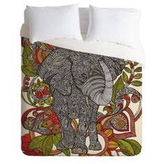 Queen Size Elephant Motif Duvet Cover Retail: $299.00  Our Price: $189 & Free Ship This could quite possibly be the coziest, most comfortable duvet cover ever. Made from 100% polyester microfiber, it will keep you warm even on the coldest of days! The Deny Designs Microfiber Duvet Cover is prin...