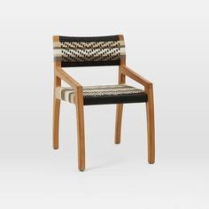 great woven texture on this dining chair